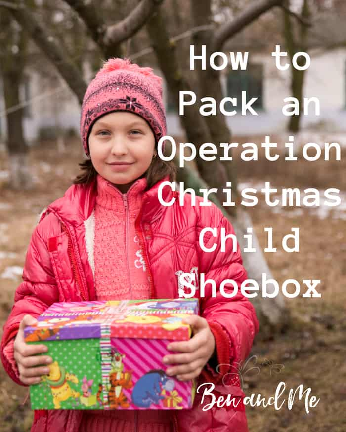 Each year our family enjoys buying little gifts to fill an Operation Christmas Child Shoebox (or 5). Here are some ideas for how to pack an Operation Christmas Child Shoebox. #occ #operationchristmaschild #christmas #giftguide #giving #christmas #christmasgifts
