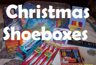 Operation Christmas Child Shoeboxes and Boxes for Katje