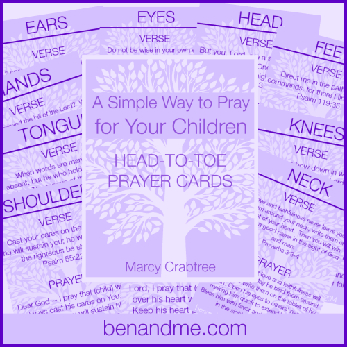 A Simple Way to Pray for Your Children (with free printable prayer cards)