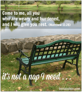weary and burdened