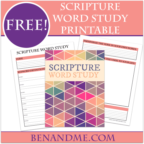 Free Scripture Word Study Printable
