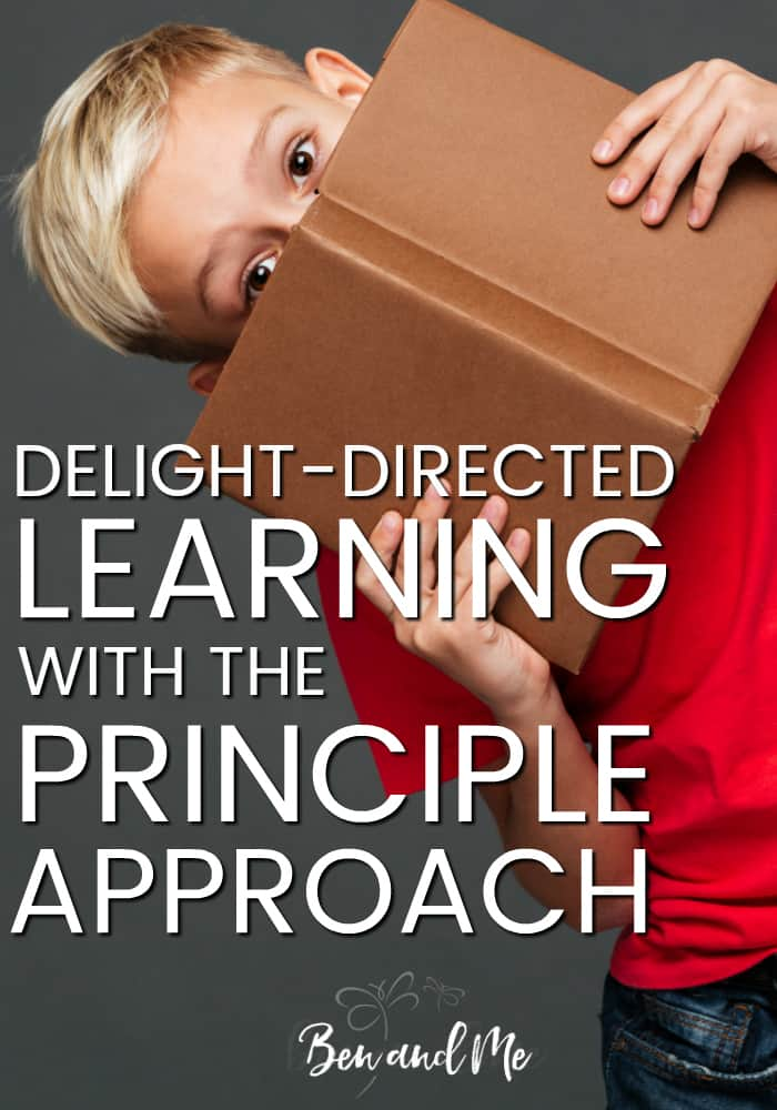 I think Delight-Directed Learning & the Principle Approach can easily go hand-in-hand because both depend upon the laying down of something abstract and teaching it in a concrete manner.  #homeschool #homeschooling #delightdirected #principleapproach