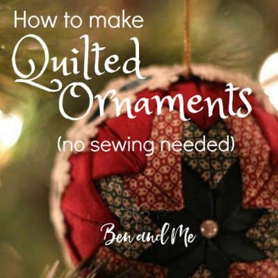 Homemade Quilted Christmas Ornaments Tutorial