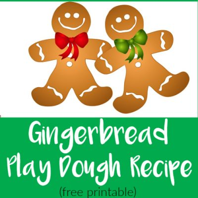 Gingerbread Play Dough Recipe {free printable}