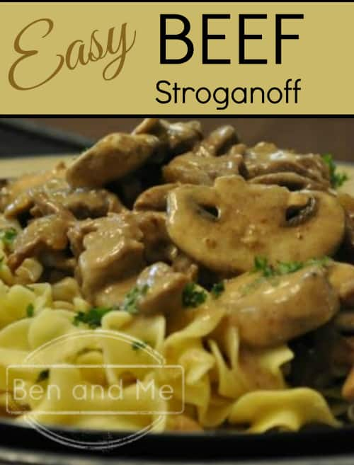 Easy Beef Stroganoff Recipe -- made from leftover pot roast. BAM! -- save time and money!