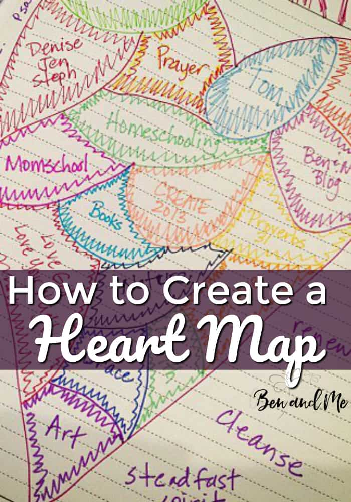 Create a heart map to represent all of those things you desire to focus your heart on throughout the year. #heartmap #doodle #doodling #love