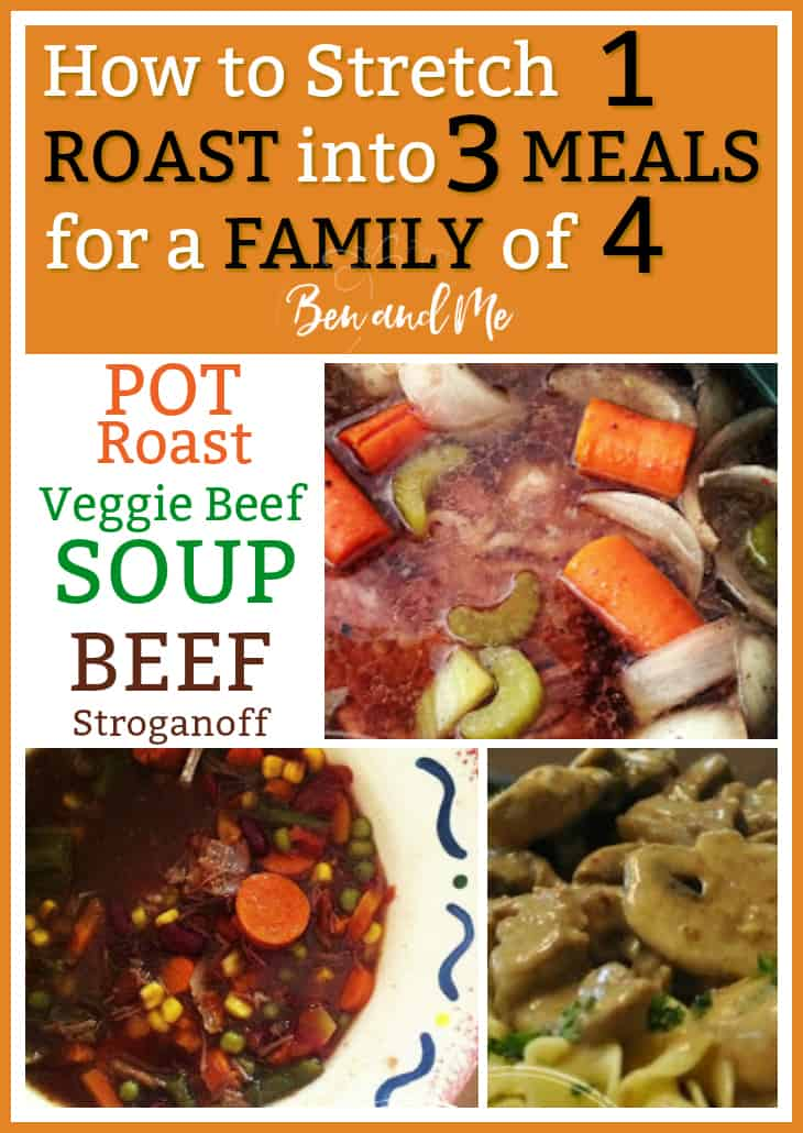 This is really great - learn how to get 3 meals out of one pot roast! Talk about a time saver! Recipes included.