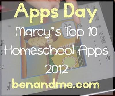Marcy's Top 10 Favorite Homeschool Apps for iPad