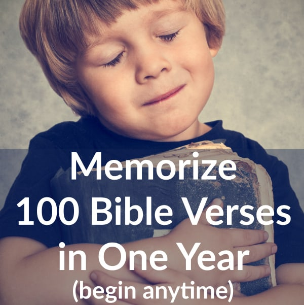 Memorize 100 Bible Verses in One Year (free printable schedule)
