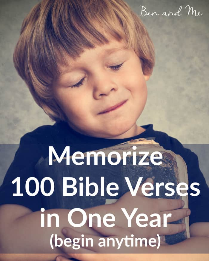 Memorize 100 Bible Verse in One Year! Memorizing 100 Bible verses in one year could not be easier. Grab your free downloadable schedule and get started anytime!