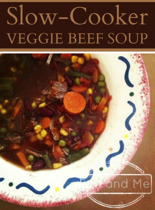 Yummy Slow Cooker Veggie Beef Soup Recipe