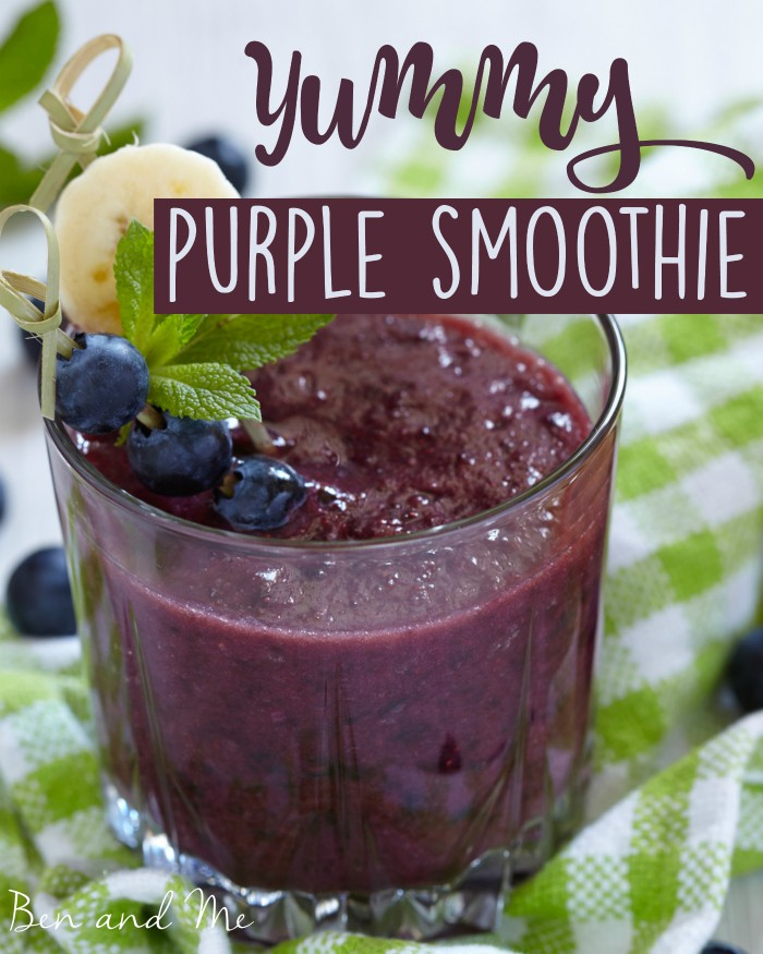 When is purple really green? (yummy purple smoothie recipe)