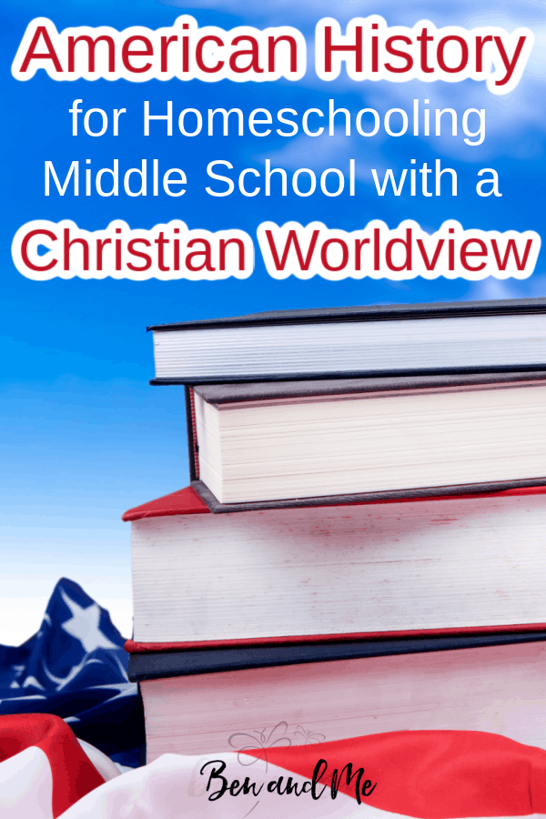 If you're looking for homeschool curriculum for teaching American History from a Christian worldview, America the Beautiful is an excellent choice for a one-year course for students grades 5-8. It combines the flexibility and richness of a unit study with the simplicity of a textbook-based approach to history and highlights key events, people, and places. #homeschool #homeschoolhistory #americanhistorycurriculum #homeschoolcurriculum #christianworldview #biblicalworldview
