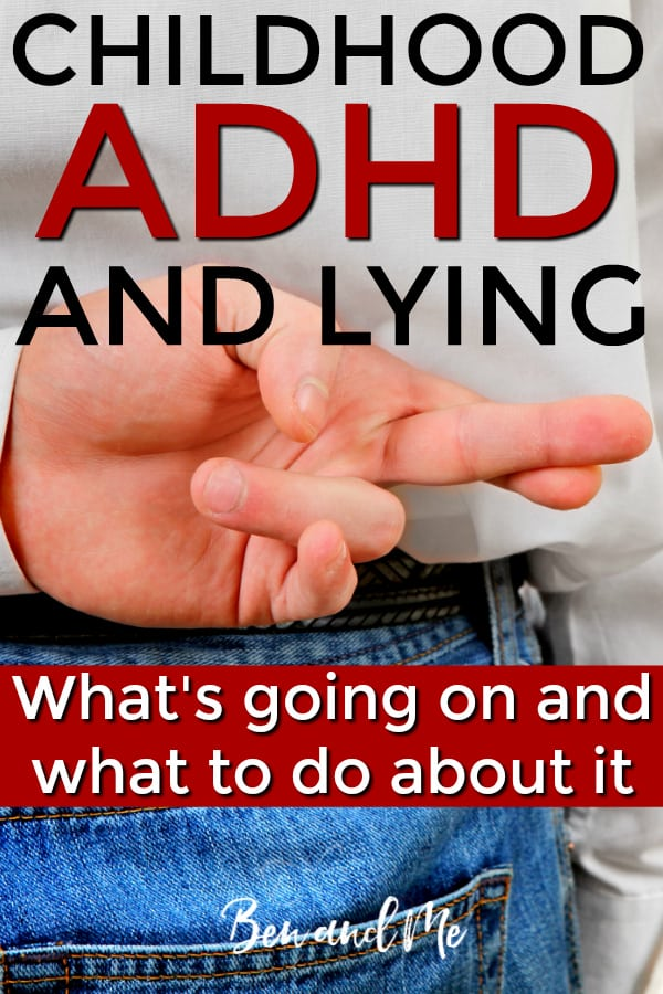 Childhood ADHD and lying often go hand-in-hand. And while it cannot be dismissed, it is important for parents to be able to discern when lying is a heart issue and when it's a coping mechanism for a child with ADHD. Here are some ways to determine the difference and what ADHD strategies you'll need to implement once you figure it out. #ADHD #parenting #ADHDkids