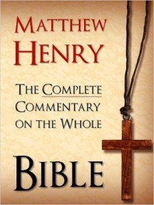 Matthew Henry Commentary on the Bible