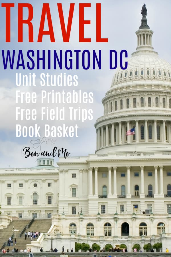 Whether you plan to visit Washington DC or learn about it, these resources can help. Includes homeschool unit studies, free printables, field trip ideas and a book list. #washingtondc #DC #homeschooling #travel #homeschool #fieldtrips