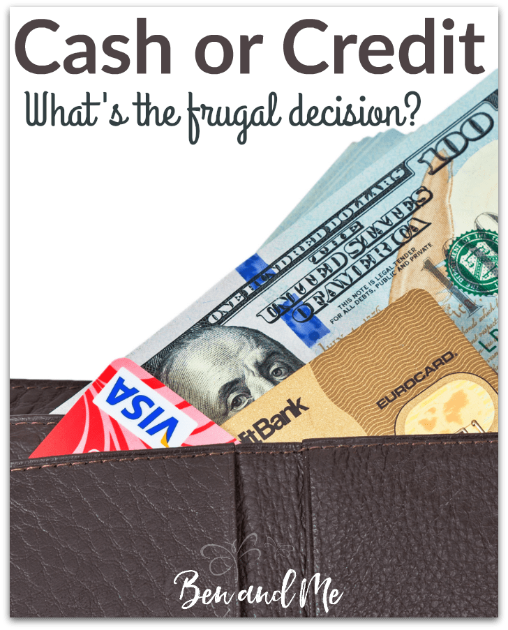 On an average day when you open your wallet would you find lots of plastic or lots of cash? Which is the most frugal means for shopping -- cash or credit? We are weighing the pros and cons of each.
