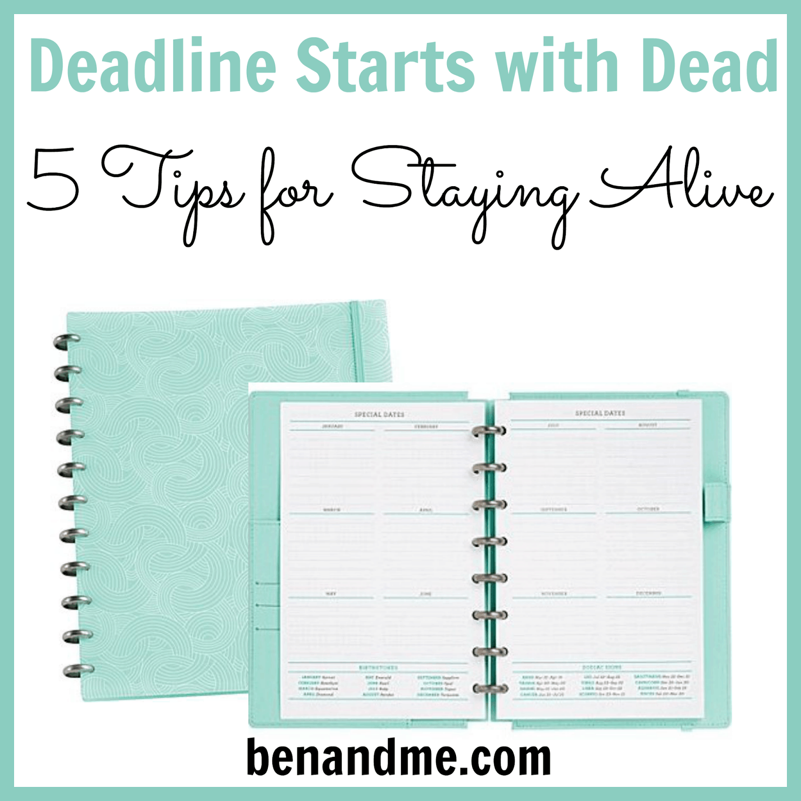Deadline Starts with Dead: 5 Tips for Staying Alive