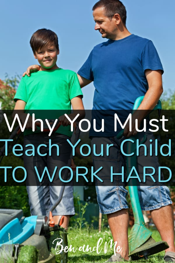 In play, children learn valuable lessons and express creativity, but play must be tempered with work. Learn why in Christian parenting you must teach your child to work hard. #parenting #heartparenting #parenting101 #christianparenting #christianparent #kids #teens #character #trainingcharacter