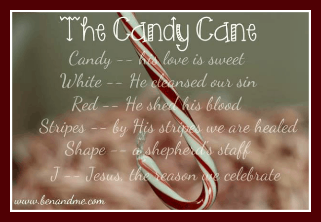 J Is For Jesus The Legend Of The Candy Cane Homeschool