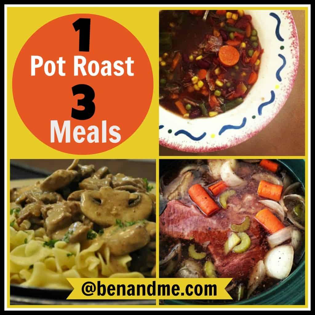 pot roast 3 meals