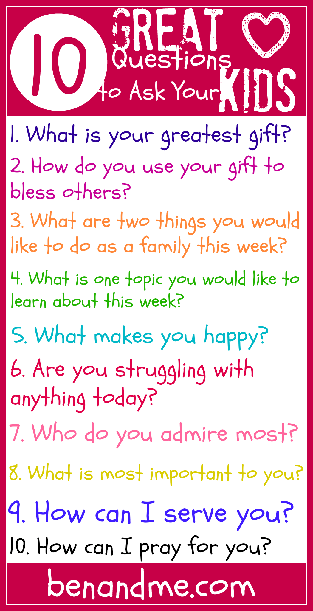 10 Questions for Kids