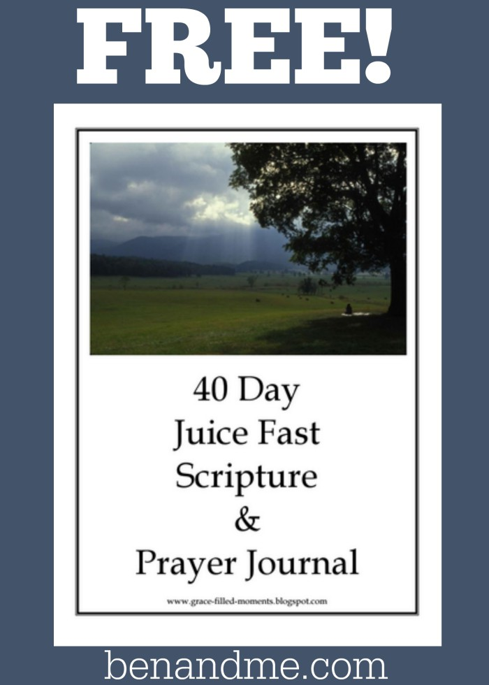 Free 40 Day Juice Fast Scripture and Prayer Journal