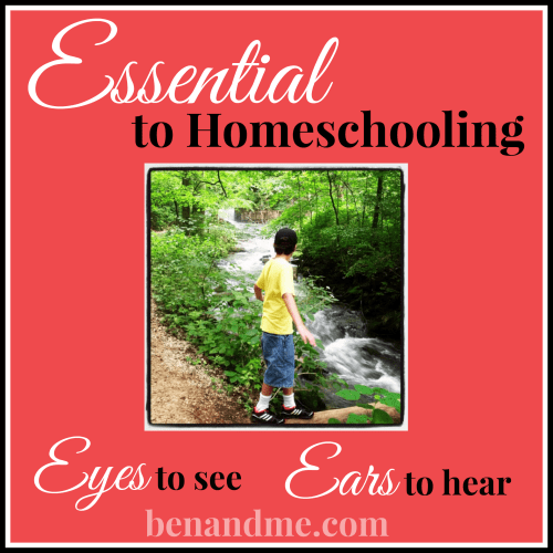 Essential to Homeschooling: Eyes to See and Ears to Hear