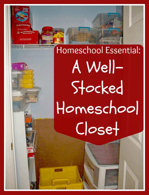 5 Days of Homeschooling Essentials: A Well-Stocked Homeschool Closet