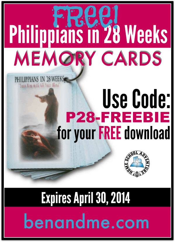 FREE Scripture Memory Tool for Philippians!
