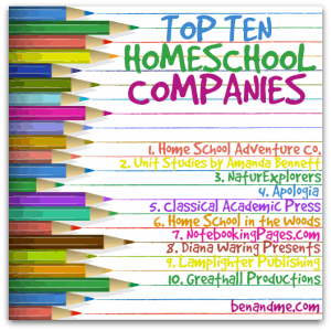 top ten homeschool companies