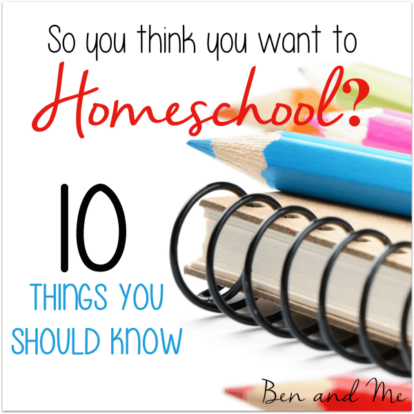 So You Think You Want to Homeschool? 10 Things You Should Know