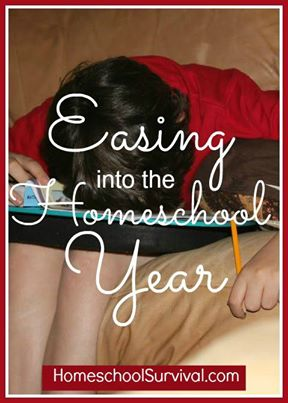 easing into the new homeschool year