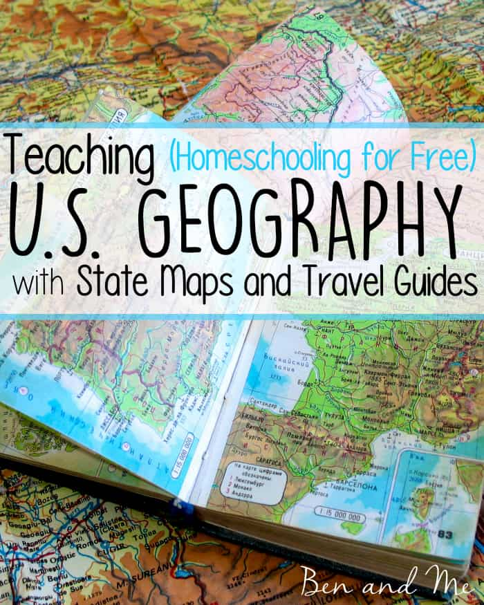 Teaching U S Geography With State Maps And Travel Guides Ben And Me - Us-travel-map