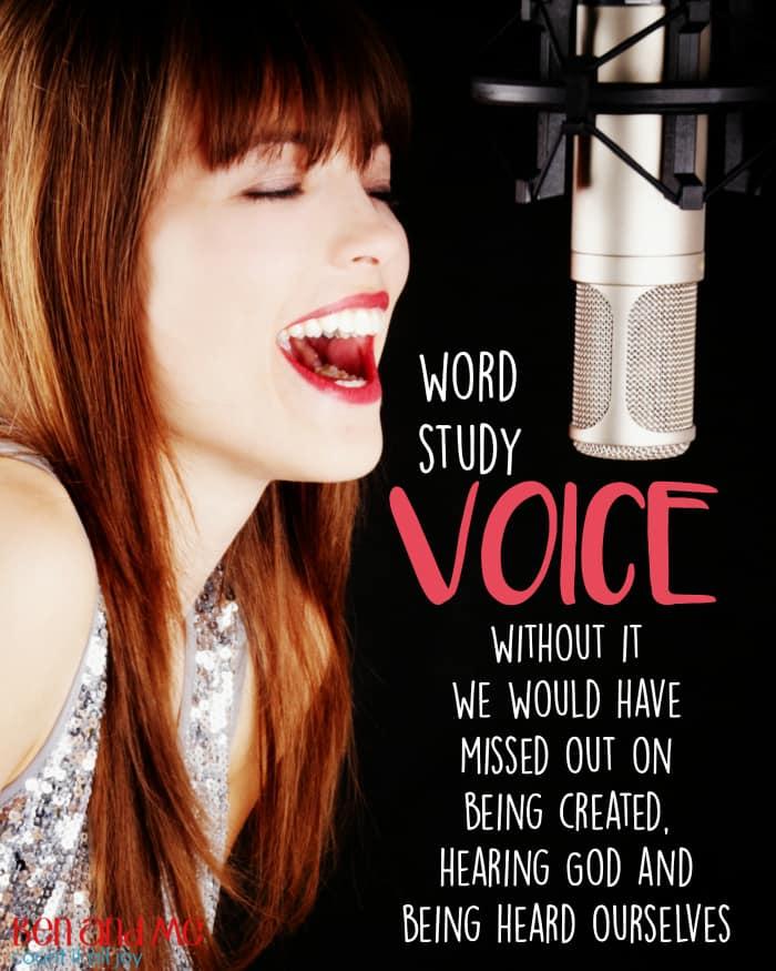 Word Study Voice