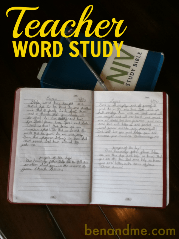 teacher word study