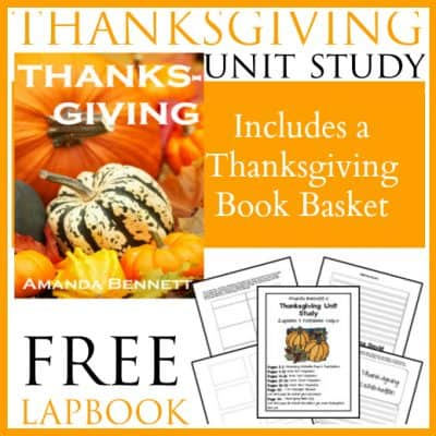 Thanksgiving Unit Study, Free Lapbook and Book List