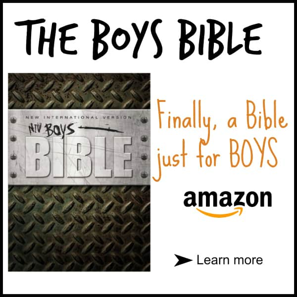 Finally a Bible just for BOYS!