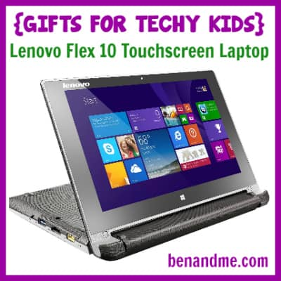 Gifts for Techy Kids Lenovo Flex 10 Touchscreen Laptop