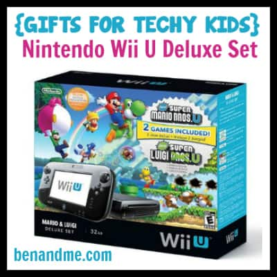 Gifts for Techy Kids Nintendo Wii U Deluxe Set