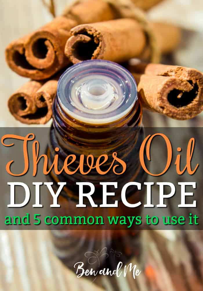 Blend your own #Thieves Oil! Here's the recipe + 5 common uses for this popular germ-fighting #essentialoils blend, helpful for #cold and #flu season.