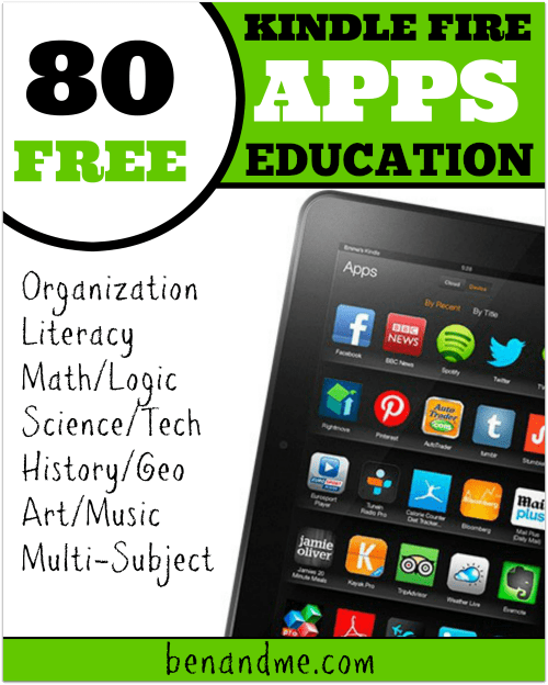 80 FREE Educational Apps for Kindle Fire