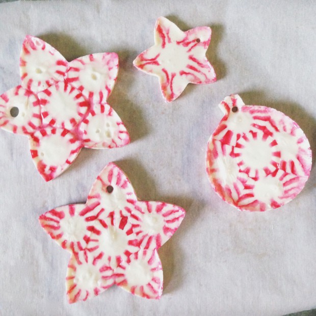 peppermint candy ornaments