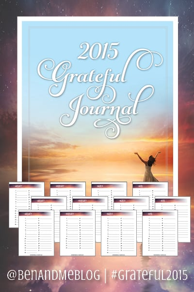 2015 Grateful Challenge with FREE Grateful Journal  #Grateful2015