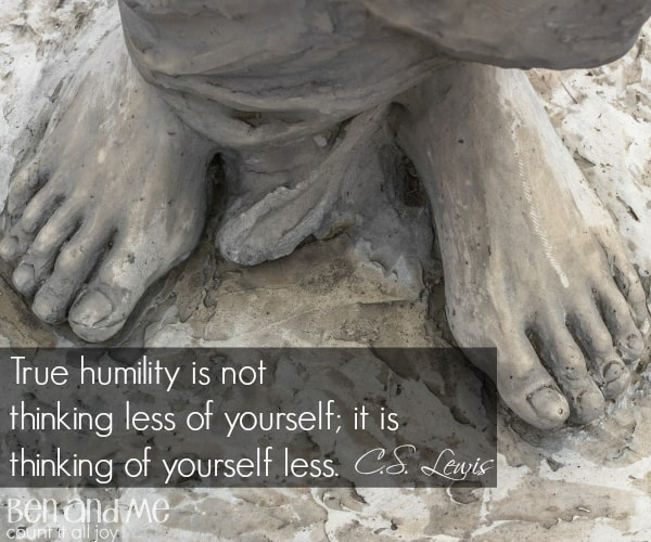 #CSLewis True humility is not thinking less of yourself; it is thinking of yourself less.