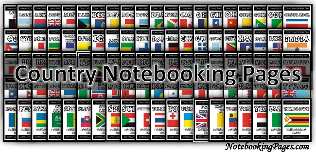 Country Notebooking Pages