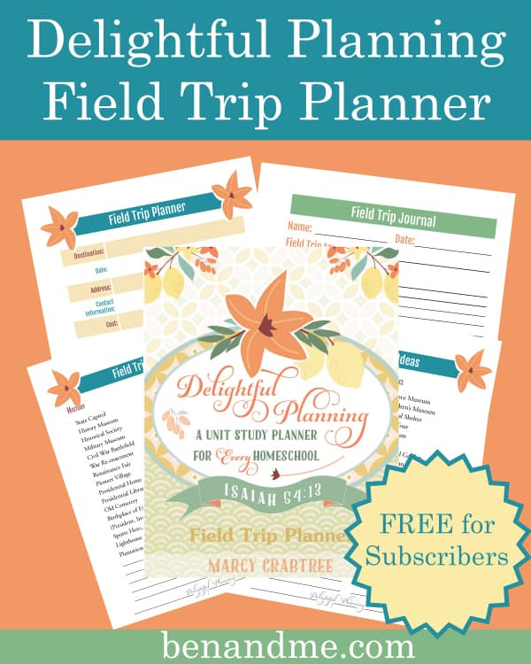 Delightful Planning Field Trip Planner