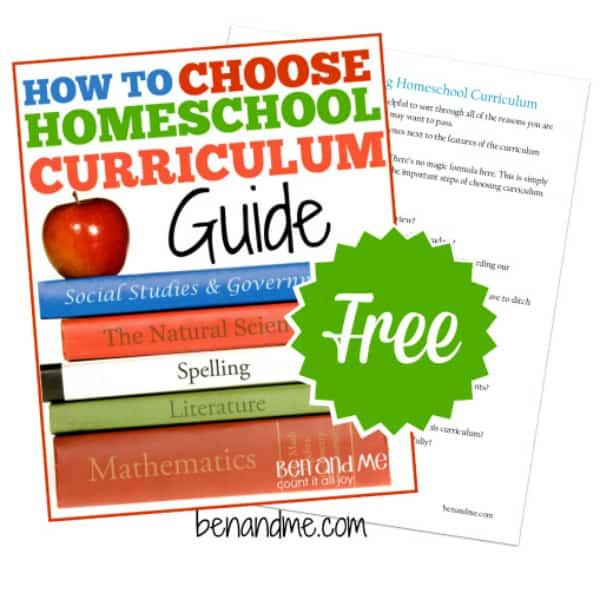 FREE Guide to Choosing Homeschool Curriculum