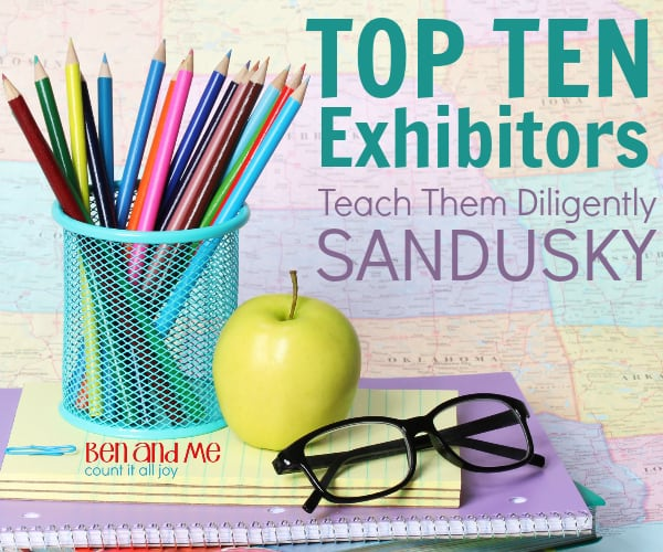 Top 10 Exhibitors at Teach Them Diligently Sandusky