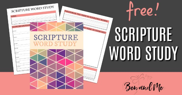 How To Do a Scripture Word Study with Your Kids (free